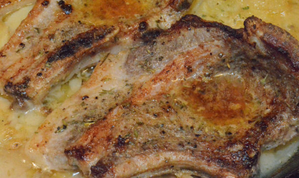 Easy Pork Chop and Au Gratin Potatoes Recipe